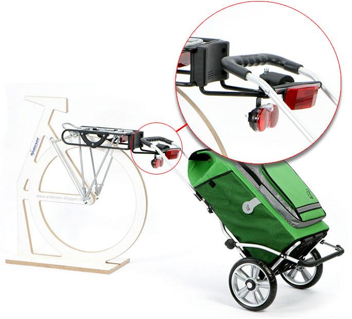 einkaufstrolley am fahrrad befestigen. Black Bedroom Furniture Sets. Home Design Ideas